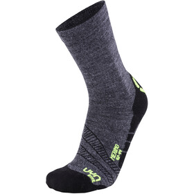 UYN Cycling Merino Socks Men anthracite/yellow fluo